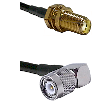 SMA Female Bulk Head To Right Angle TNC Male Connectors RG179 75 Ohm Cable Assembly
