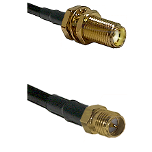 SMA Female Bulkhead on RG188 to SMA Reverse Polarity Female Cable Assembly