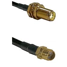 SMA Female Bulkhead on RG188 to SMA Reverse Polarity Female Cable Assembly