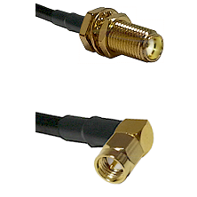 SMA Female Bulkhead on RG188 to SMA Right Angle Male Cable Assembly