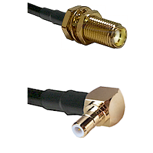 SMA Female Bulk Head To Right Angle SMB Male Connectors RG188 Cable Assembly