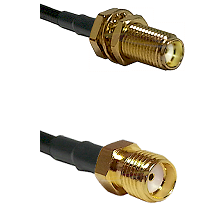SMA Female Bulkhead on RG188 to SMA Reverse Thread Female Cable Assembly