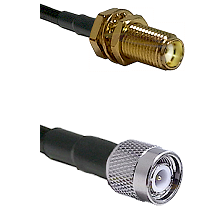 SMA Female Bulkhead on RG188 to TNC Male Cable Assembly