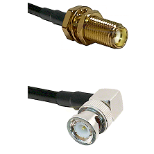 SMA Female Bulk Head On RG223 To Right Angle BNC Male Connectors Coaxial Cable