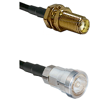 SMA Female Bulkhead on RG400 to 7/16 Din Female Cable Assembly