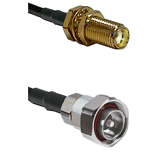 SMA Female Bulkhead on RG400 to 7/16 Din Male Cable Assembly