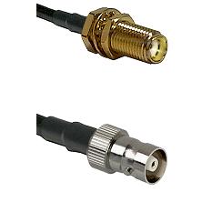 SMA Female Bulkhead on RG58C/U to C Female Cable Assembly