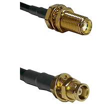 SMA Female Bulkhead on RG58C/U to MCX Female Bulkhead Cable Assembly