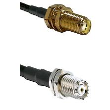 SMA Female Bulkhead on RG58C/U to Mini-UHF Female Cable Assembly