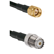 SMA Male on Belden 83242 RG142 to Mini-UHF Female Cable Assembly