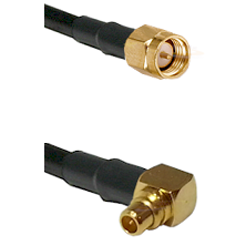 SMA Male on LMR100 to MMCX Right Angle Male Cable Assembly