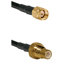 SMA Male To SMC Plug Connectors LMR-195-UF UltraFlex Cable Assembly