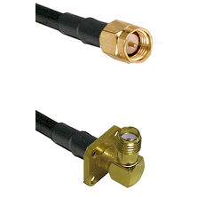 SMA Male on LMR240 Ultra Flex to SMA 4 Hole Right Angle Female Cable Assembly