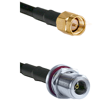 SMA Male On LMR400UF To N Female Bulkhead Connectors Ultra Flex Coaxial Cable