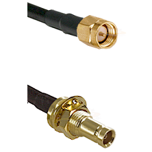 SMA Male on RG142 to 10/23 Female Bulkhead Cable Assembly