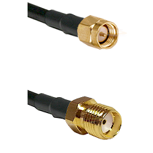 SMA Male Plug on RG402, .141 Tin-Braided Conformable Coax to SMA Female Jack 8 inches long Coaxial