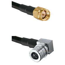 SMA Male on RG58C/U to QMA Right Angle Male Cable Assembly