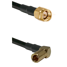 SMA Male on RG58C/U to SLB Right Angle Female Cable Assembly