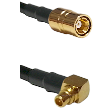 SMB Female To Right Angle MMCX Male Connectors LMR100 Cable Assembly