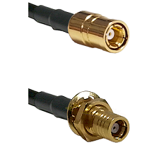 SMB Female To SMB Female Bulk Head Connectors LMR100 Cable Assembly