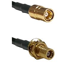 SMB Female on LMR200 UltraFlex to SMB Female Bulkhead Cable Assembly