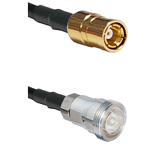 SMB Female on RG142 to 7/16 Din Female Cable Assembly
