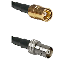 SMB Female on RG142 to C Female Cable Assembly