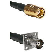 SMB Female on RG142 to C 4 Hole Female Cable Assembly