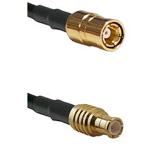 SMB Female on RG142 to MCX Male Cable Assembly