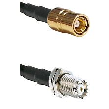 SMB Female on RG142 to Mini-UHF Female Cable Assembly