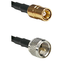 SMB Female on RG142 to Mini-UHF Male Cable Assembly