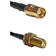 SMB Female Connector On RG188A/U To SMA Female Bulkhead Connector Cable Assembly