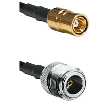 SMB Female On RG400 To N Female Connectors Coaxial Cable
