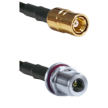SMB Female On RG400 To N Female Bulk Head Connectors Coaxial Cable
