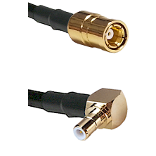 SMB Female On RG400 To Right Angle SMB Male Connectors Coaxial Cable
