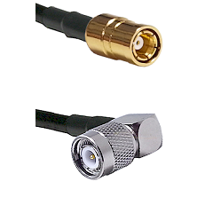 SMB Female On RG400 To Right Angle TNC Male Connectors Coaxial Cable