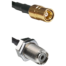 SMB Female On RG400 To UHF Female Bulk Head Connectors Coaxial Cable