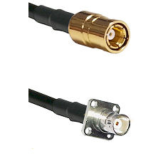 SMB Female on RG58C/U to BNC 4 Hole Female Cable Assembly