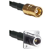 SMB Female on RG58C/U to N 4 Hole Female Cable Assembly