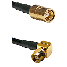 SMB Female on RG58C/U to SMC Right Angle Female Cable Assembly