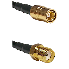 SMB Female on RG58C/U to SMA Female Cable Assembly