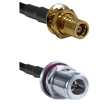 SMB Female Bulkhead on Belden 83242 RG142 to N Reverse Polarity Female Bulkhead Coaxial Cable Assemb