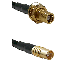 SMB Female Bulkhead on LMR100 to MCX Female Cable Assembly