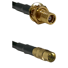 SMB Female Bulkhead on LMR100 to MMCX Female Cable Assembly