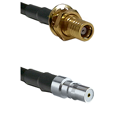 SMB Female Bulkhead on LMR-195-UF UltraFlex to QMA Female Cable Assembly