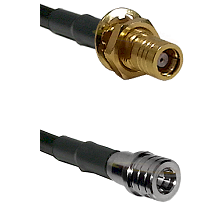 SMB Female Bulkhead on LMR-195-UF UltraFlex to QMA Male Cable Assembly