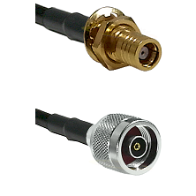 SMB Female Bulkhead on LMR-195-UF UltraFlex to N Reverse Polarity Male Cable Assembly