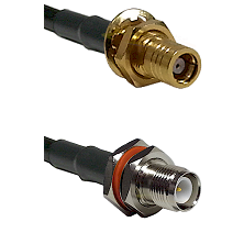 SMB Female Bulkhead on LMR-195-UF UltraFlex to TNC Reverse Polarity Female Bulkhead Coaxial Cable As