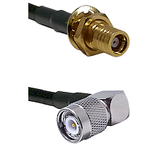 SMB Female Bulk Head To Right Angle TNC Male Connectors LMR-195-UF UltraFlex Custom Coaxial C
