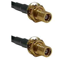 SMB Female Bulk Head To SMB Female Bulk Head Connectors LMR-195-UF UltraFlex Custom Coaxial C